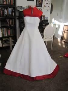 David s bridal wedding dress with red accents size 16w ebay
