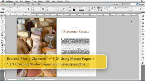 creating indesign master page how to work with indesign master pages lynda com