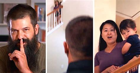 wife shaving husband husband secretly shaves his big bushy beard to surprise