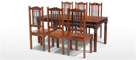Sheesham Dining Table And Chairs Jali Sheesham 180 Cm Thakat Dining Table And 6 Chairs Quercus Living