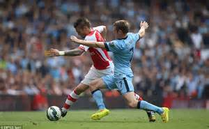 arsenal home record arsenal 2 2 manchester city martin demichelis header