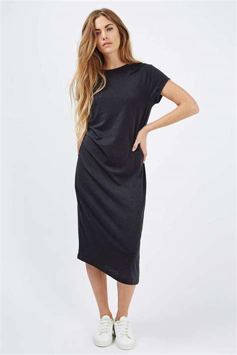 drape dresses casual drape midi dress dresses clothing topshop usa