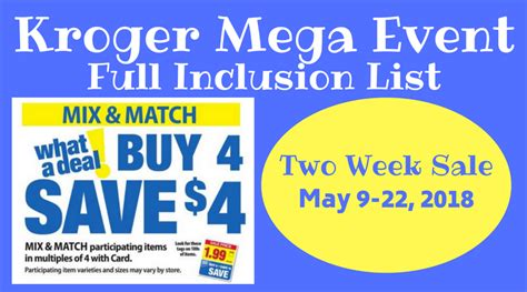 here it is kroger s full inclusions list for their buy 6 kroger weekly grocery ads coupon deals krogerkrazy com