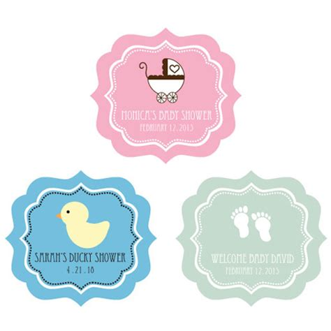 Sticker Labels For Baby Shower Favors by Baby Shower Frame Personalized Labels Baby Shower