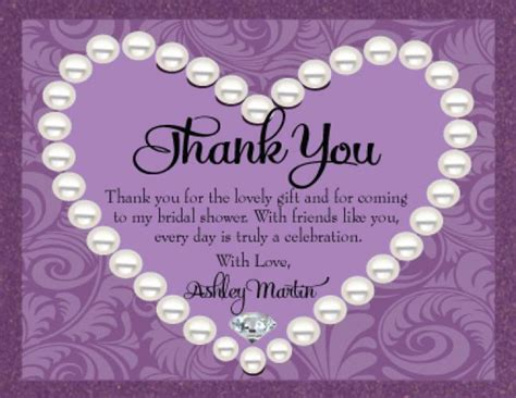 sle wording for bridal shower thank you cards generic bridal shower thank you card wording 99 wedding ideas