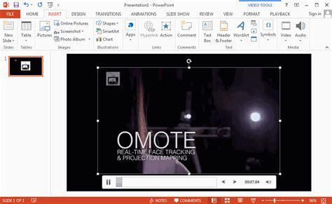 cara memasukan format gif ke powerpoint cara memasukan video ke microsoft power point