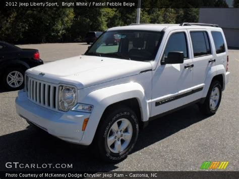 beige jeep liberty bright white 2012 jeep liberty sport pastel pebble