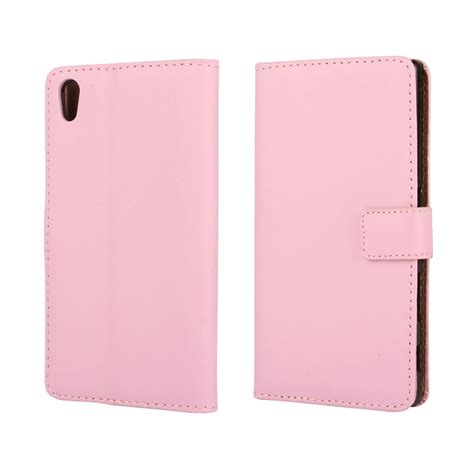 Wallet Leather Sony Z5 by Sony Xperia Z5 Leather Wallet Pink