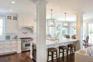 Pendant Light Kitchen Island Column In Kitchen Island Kitchen Contemporary With Shaker