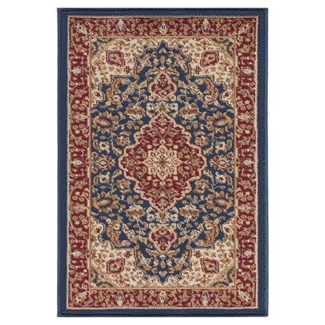 2 x 3 accent rugs tayse rugs sensation navy blue 2 ft x 3 ft traditional area rug 4787 navy 2x3 the home depot