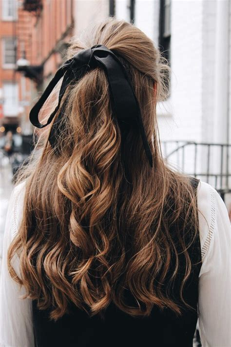 easy hairstyles ribbon hair ribbons are underrated winter street styles hair