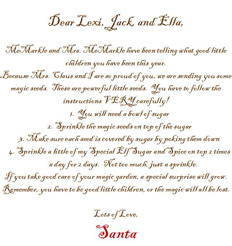 elf on the shelf welcome letter from santa printable letter from santa theyummyfactory