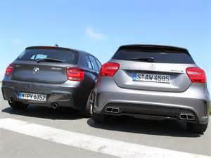 Bmw M135i Technische Daten by Vergleich Kompaktsportler Mercedes A 45 Amg Vs Bmw M135i