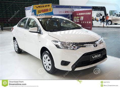toyota white car white toyota vios car editorial stock photo image 42217273