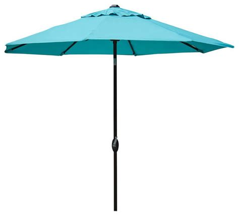 Abba Patio 9 Market Outdoor Umbrella With Auto Tilt And Turquoise Patio Umbrella