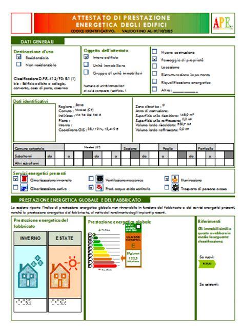 certificazione energetica capannone attestati di prestazione energetica e non ape