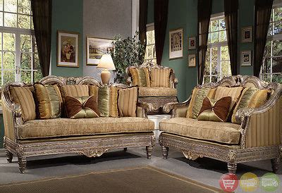 traditional antique style formal living room furniture set formal luxury sofa love seat traditional antique style