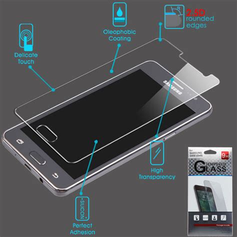 Tempered Glass Bening Samsung On5 tempered glass screen protector 2 5d for samsung g550 on5 ebay