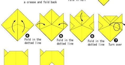 Origami Tiger Diagram - lovely tiger origami tutorial diy origami