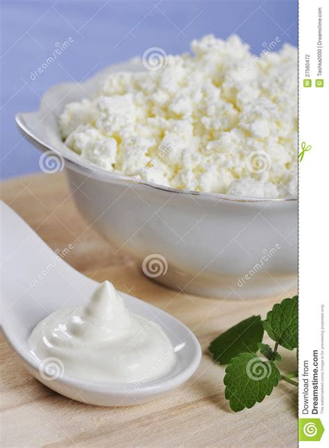 cottage cheese with sour stock photography image