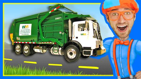 garbage trucks for kids garbage trucks for children with blippi learn about r