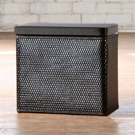 laundry basket bench carter black bench laundry her contemporary hers