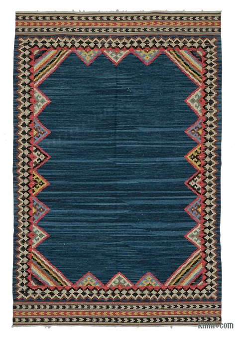 turkish kilim rug k0021087 blue new turkish kilim rug