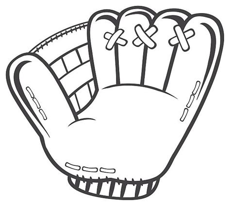 Black And White Gloves royalty free baseball glove on white clip vector