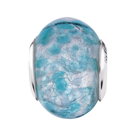 Teal Glass by Teal Murano Glass Charm