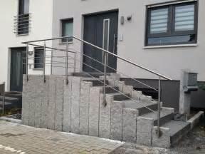 hauseingang treppe edelstahl gel 228 nder hauseingang