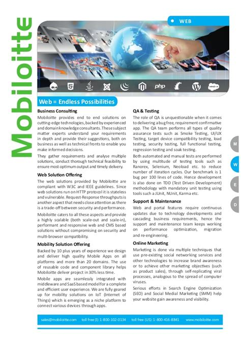 Brochure With Application by Web Application Development Brochure