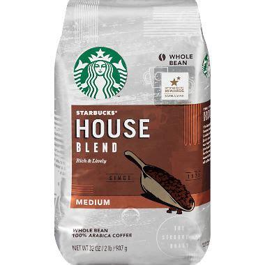 Kopi Starbucks Breakfast Blend Coffee Whole Bean starbucks house blend whole bean 2 lb sam s club