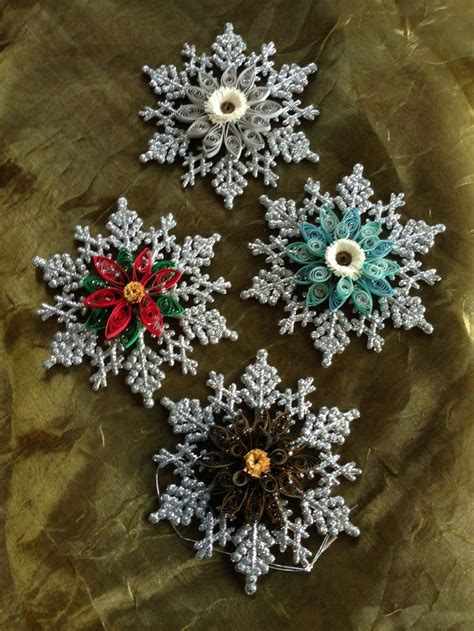quilled christmas ornaments quilled snowflakes