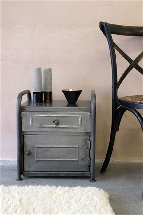 metal night stands bedroom vintage style metal cabinet bedside table industrial