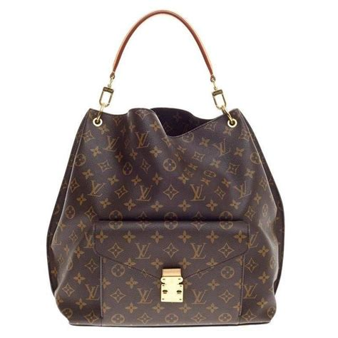 louis vuitton metis hobo monogram canvas  stdibs