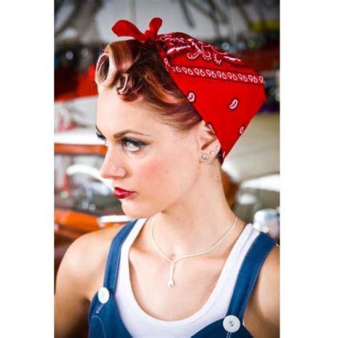 cute maturity woman pin up hair styles paisley pin up bandana more colours rockabilly pin up