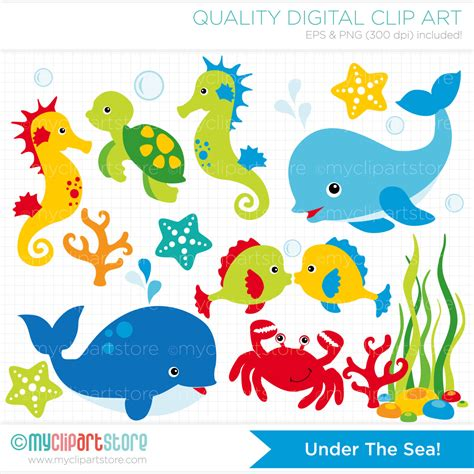 templates for under the sea creatures clipart under the sea 1 dolphin whale by myclipartstore