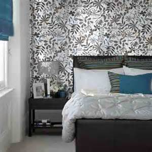 Bedroom Design Ideas With Wallpaper Bedroom Wallpaper In Black White And Gray One Wall