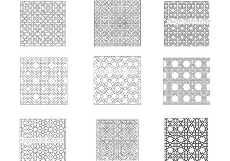Islamic Pattern Free Dwg | islamic decorative patterns dwg free cad blocks download