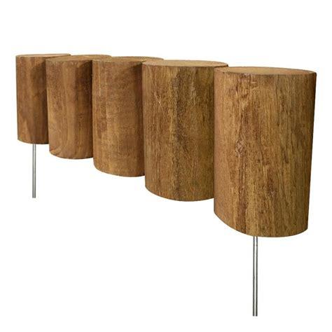 Landscape Edging Wooden Posts Shop Greenes Log 1 25 Ft Brown Wood Landscape Edging