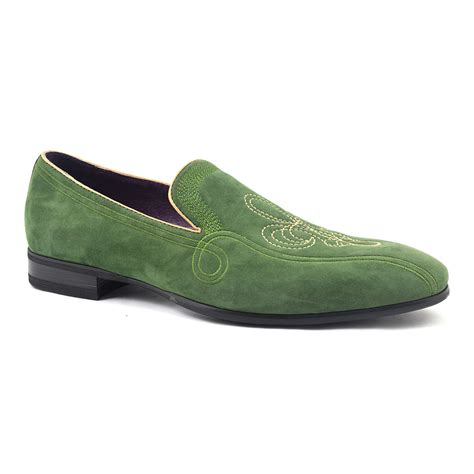green loafers buy mens olive green suede loafer gucinari style