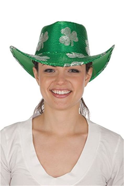 st s day hats st s day shamrock sequin cowboy costume hat