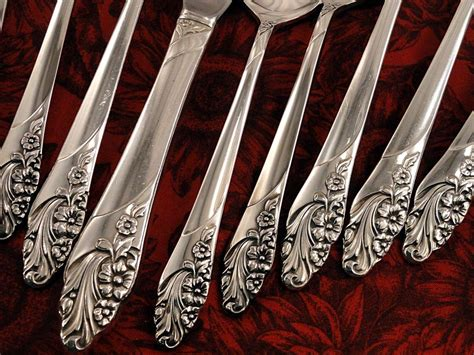 artistic flatware oneida community evening star vintage 1950 silver plate