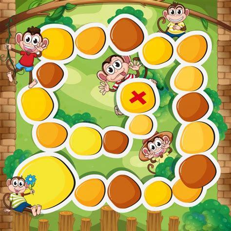 giochi da tavolo gratis da scaricare modello di gioco da tavolo con scimmia nell illustrazione