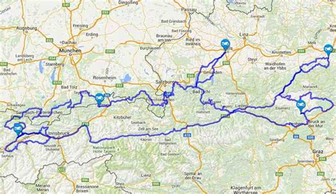 Motorradtouren In österreich by Motorradtouren 246 Sterreich Karte Creactie
