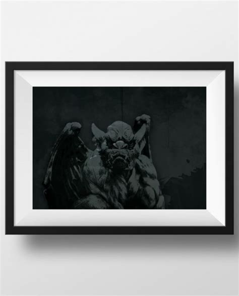 antique gas canvas poster print home wall decor gargoyle retro portrait illustration print vintage giclee on cotton canvas and paper