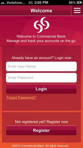 mobile banking registration mobile banking registration commercial bank