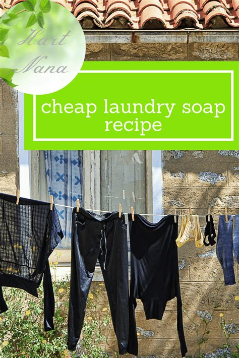 Homemade Laundry Soap That Works And Is Cheap To Make Cheap Laundry