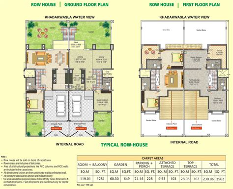 row house floor plan 2 bhk 3 bhk ready possession flats sinhagad road dsk