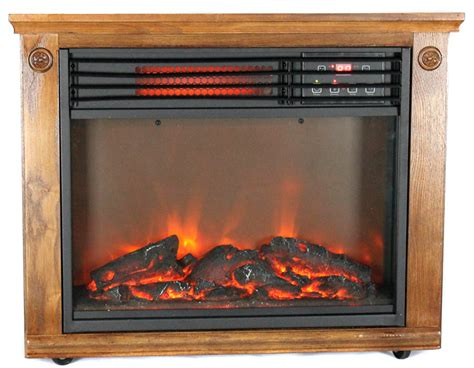 Lifesmart Fireplace by New Lifesmart Ls 1111hh13 1800 Sq Ft Infrared Quartz Electric Portable Fireplace Ebay